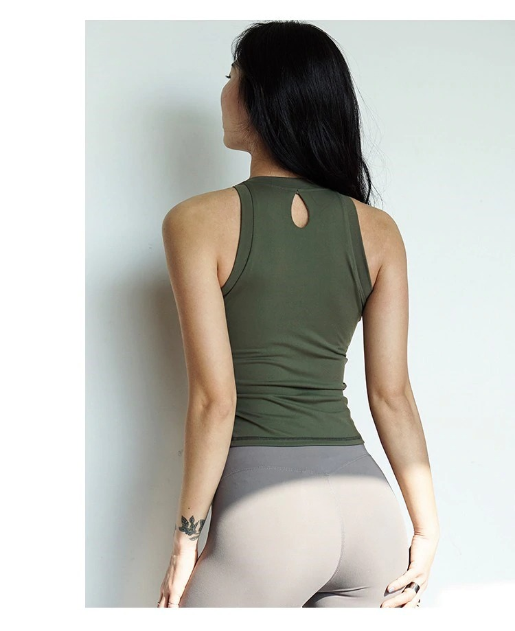 The Slim Fitting Teardrop Womens Tanktop With Removable Cups