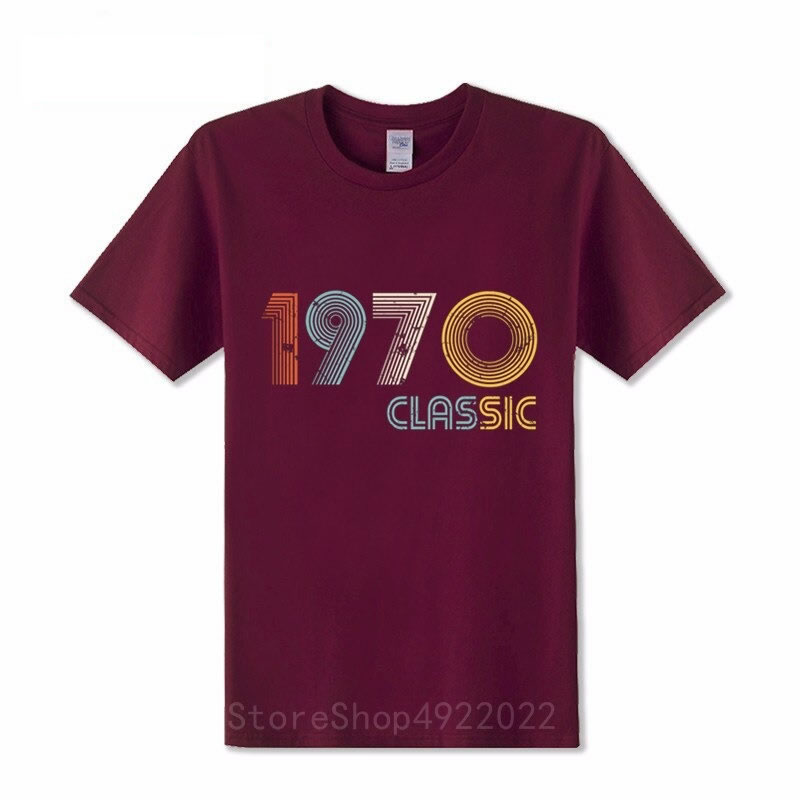 Retro casual 1970 mens t-shirt